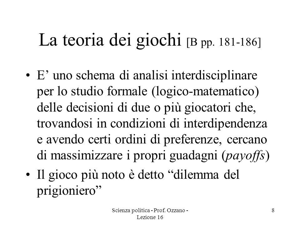La teoria dei giochi [B pp. 181-186]